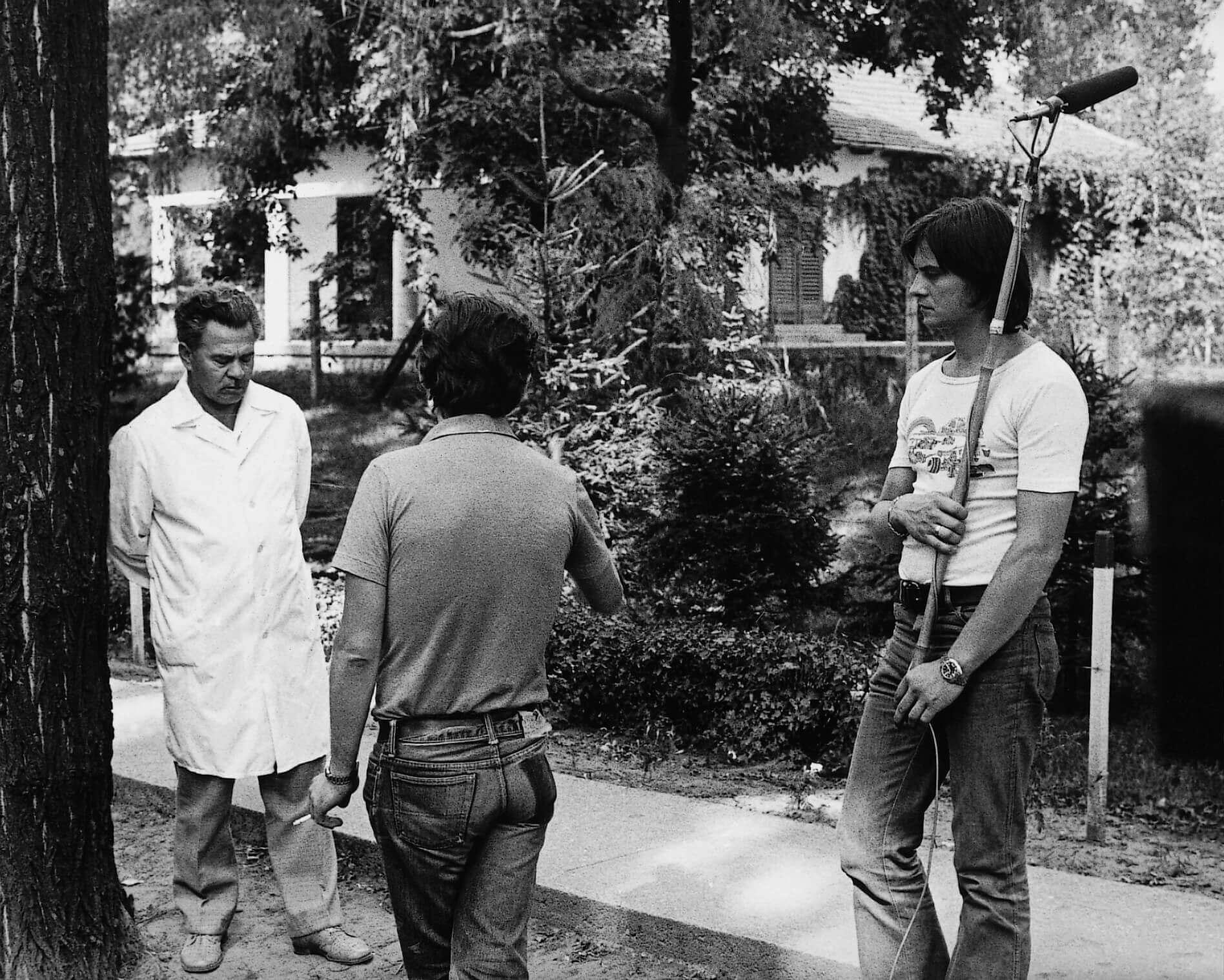 Az utolsó szó jogán című dokumentumfilm felvételén a Teichmann-telepen (Kisvárda, 1976)