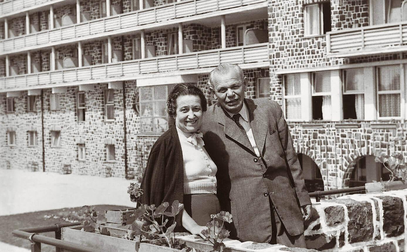 Dr. Gyüre Zoltán és felesége (Galyatető, 1956)