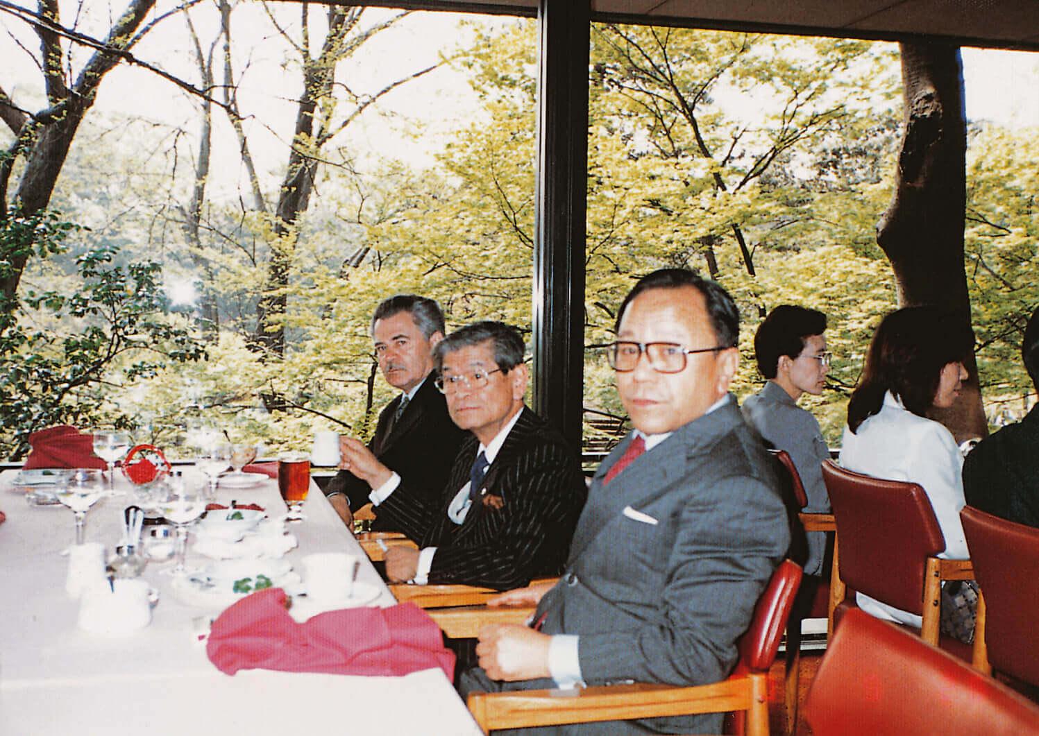 Ebéd Masasuke Masuda professzorral (Tokió, 1990)