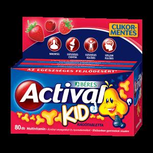 Béres Actival Kid 3 ízű rágótabletta
