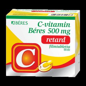 C-vitamin Béres 500 mg retard filmtabletta