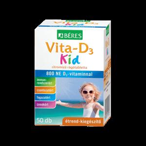 Béres Vita-D3 Kid rágótabletta 800 NE D3-vitaminnal