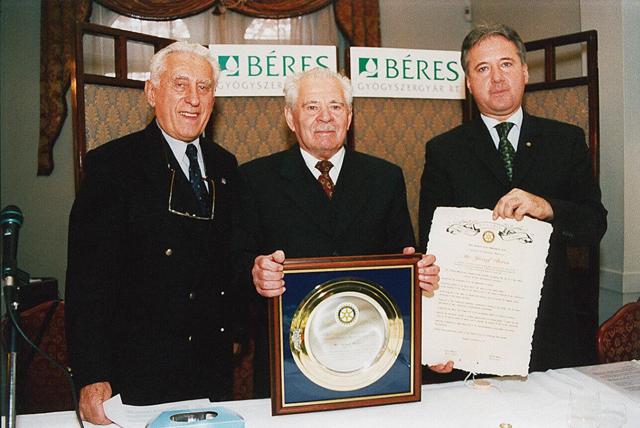 Béres József 2002 Üzleti TIsztességért díj