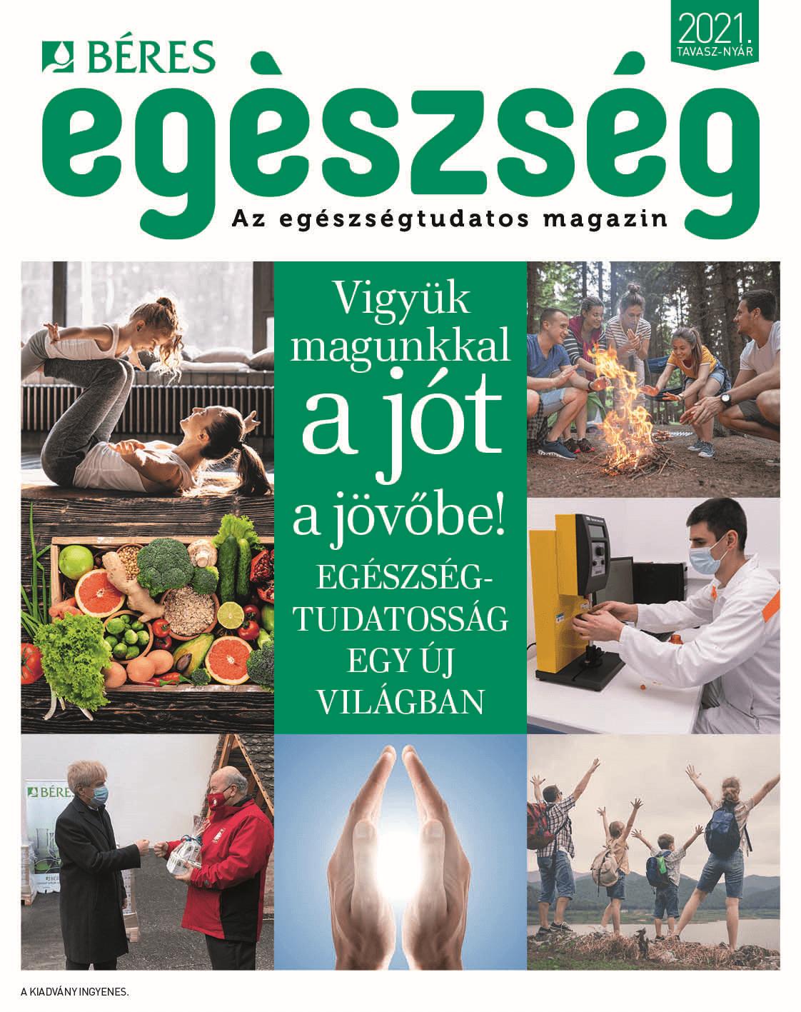 2021 Béres Egészség magazin tavasz címlap